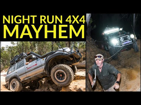 NIGHT TIME 4x4 MAYHEM - Huge rock steps and recoveries AFTER DARK! Tough tracks close to Sydney