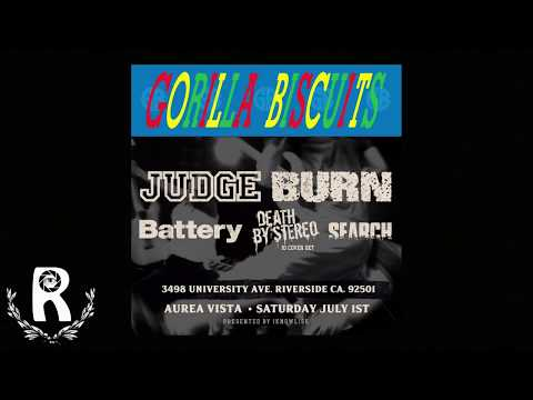 2017 GORILLA BISCUITS - JUDGE - BATTERY - DEATH BY STEREO - BURN