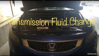 2008 honda accord auto transmission fluid change