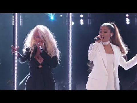 Ariana Grande & Christina Aguilera - Into You/Dangerous Woman (Live on The Voice Final 2016) HD