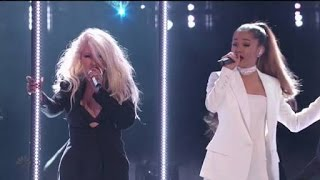 Download Video Ariana Grande & Christina Aguilera - Into You/Dangerous Woman (Live on The Voice Final 2016) HD MP3 3GP MP4