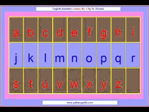 1. English Lesson Alphabet In Urdu / Hindi