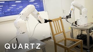 Robots use AI to build an IKEA chair
