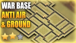 TH9 (Town Hall 9) War Base 2017 Anti GROUND & AIR (9x% Base) | Clash Of Clans