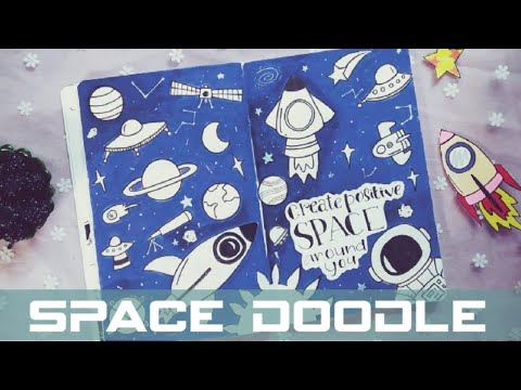 Space Doodle Journal//Space & Galaxy Spread