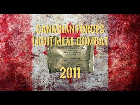 Canadian MRE Taste Test: 2011 Light Meal-Combat From Steve1989