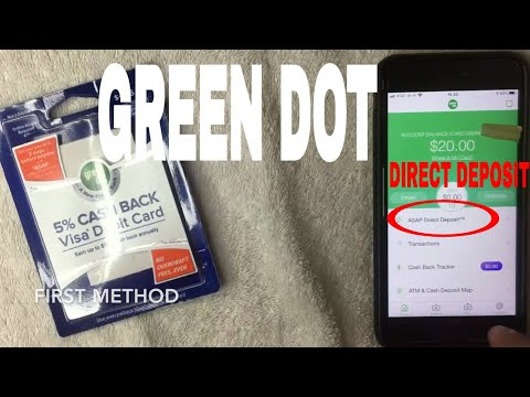 ✅  Green Dot Prepaid Visa Debit Card Direct Deposit Instructions 🔴