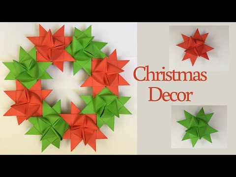 Paper Christmas Wreath / How To Make Christmas Wreath / Christmas Decorations Ideas