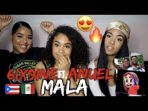 6ix9ine ft. Anuel AA - Mala Reaction/Review