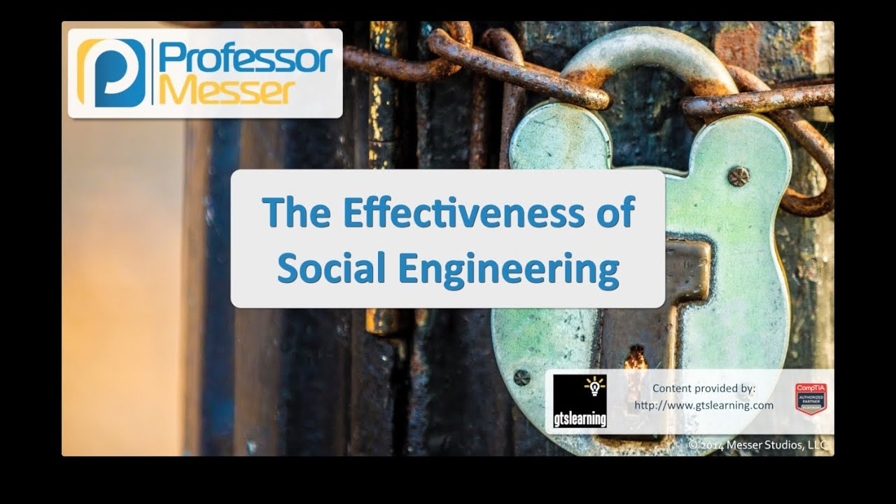 The Effectiveness of Social Engineering - CompTIA Security+ SY0-401: 3.3