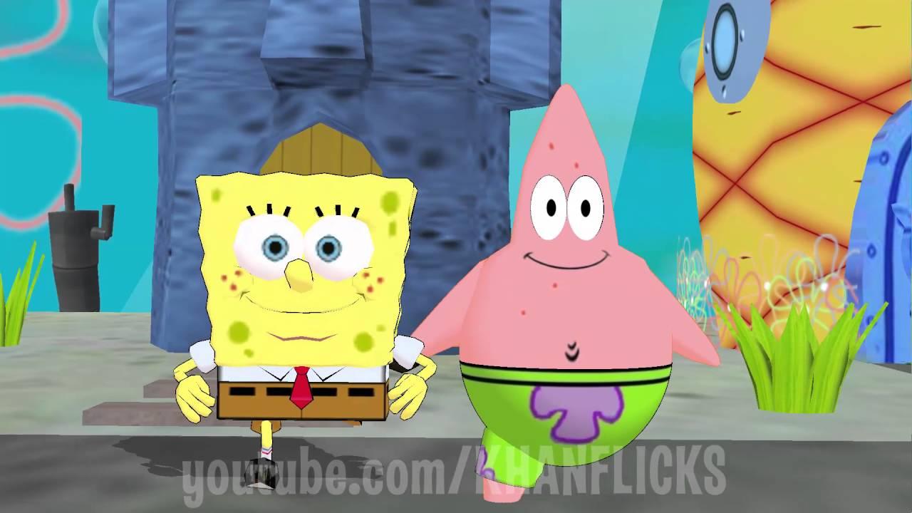 Spongebob & Patrick Running Man Challenge * FUNNY DANCE ...