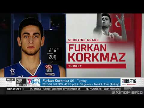 2016 NBA Draft   #26 Pick׃ Furkan Korkmaz   Philadelphia 76ers