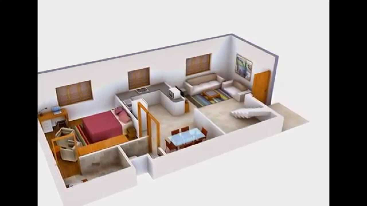 3d interior rendering of house floor plans youtube for 3d bedroom planner