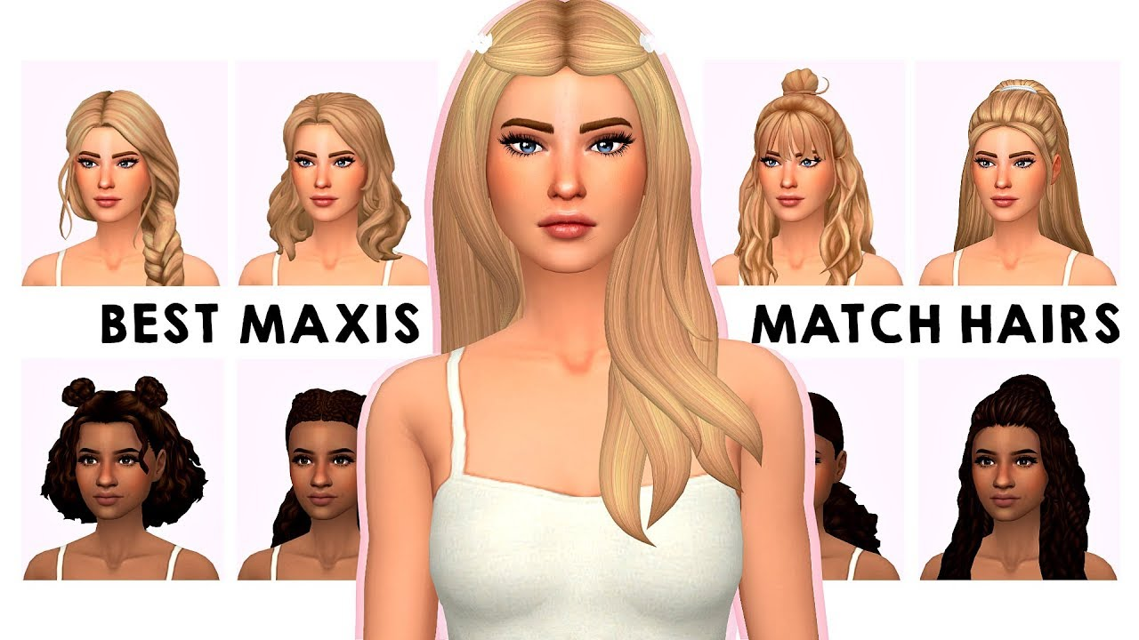 My Maxis Match Hair Collection Sims 4 Custom Content Showcase Links Youtube