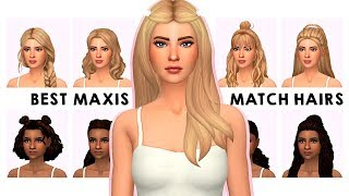 MY MAXIS MATCH HAIR COLLECTION | Sims 4 Custom Content Showcase \u0026 LINKS