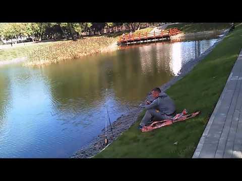 Обзор малого Солнцевского пруда, неделя до завершения благоустройства