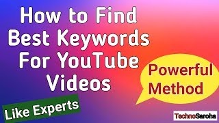 How to find Best Keywords For YouTube Videos | YouTube Keyword Research Tool Free For Video SEO