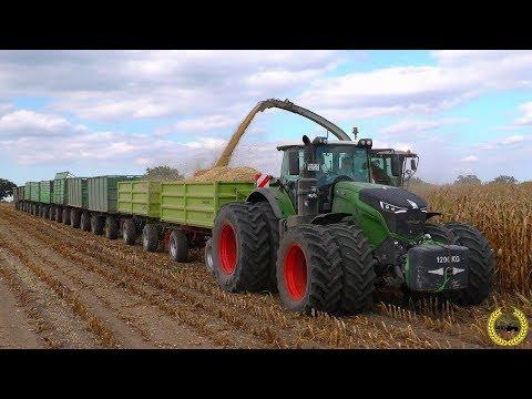 Road Train / Fendt 1050 Vario / 10 X HW80 / Gewicht 118 Tonnen / Gut Grambow / Maisernte 2018