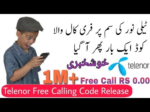 Get Daily Free Minutes On Telenor For Free Call With New Code Again 100%  Working