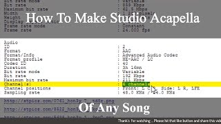 How To Make Studio Acapella Of Any Song (Make Studio Quality Acapella Without Fl Studio & Audacity)