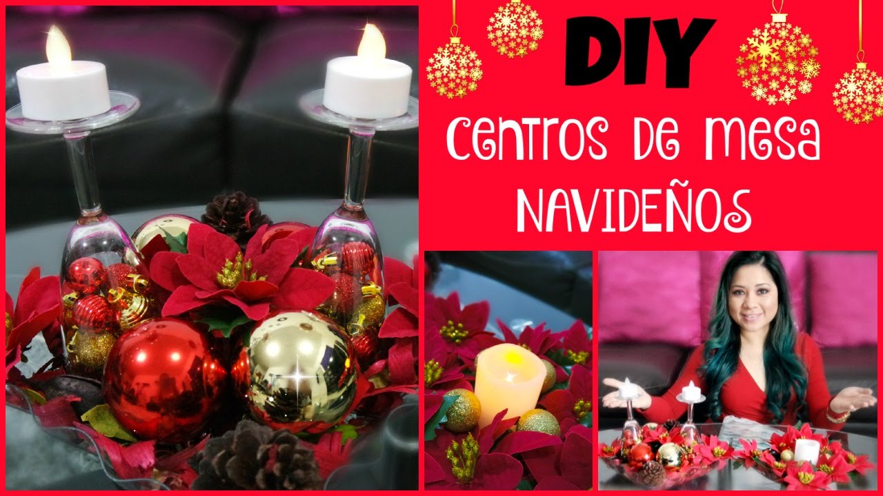 Centros de mesa para navidad f ciles y econ micos youtube - Adornos navidenos para mesas ...