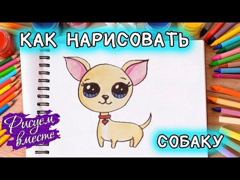 Как нарисовать СОБАКУ. Рисунок щенка для детей. Кавайная собачка