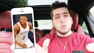 OPENING PACKS IN MY CAR!! (NBA MOBILE)