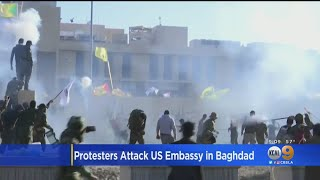 Protesters Furious Over American Airstrikes Attack U.S. Embassy In Iraq