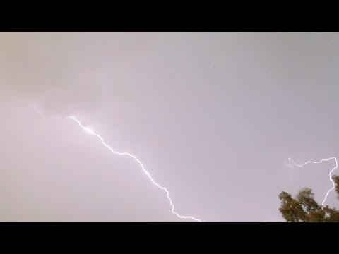 Thunderstorm in Central California September 11, 2017