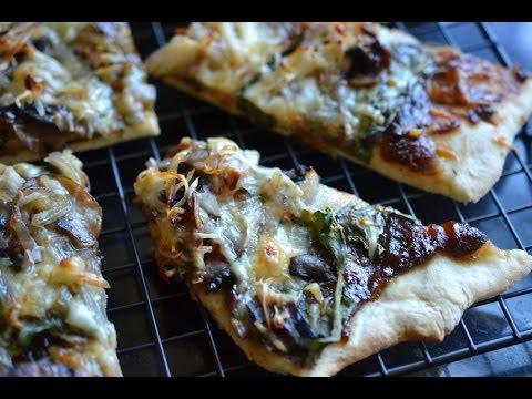 Spinach Mushroom Pizza