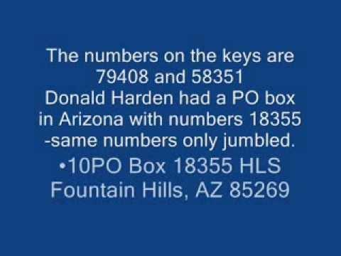 Zodiac Killer 1990 Christmas card Zerox copy of PO BOX Keys read description