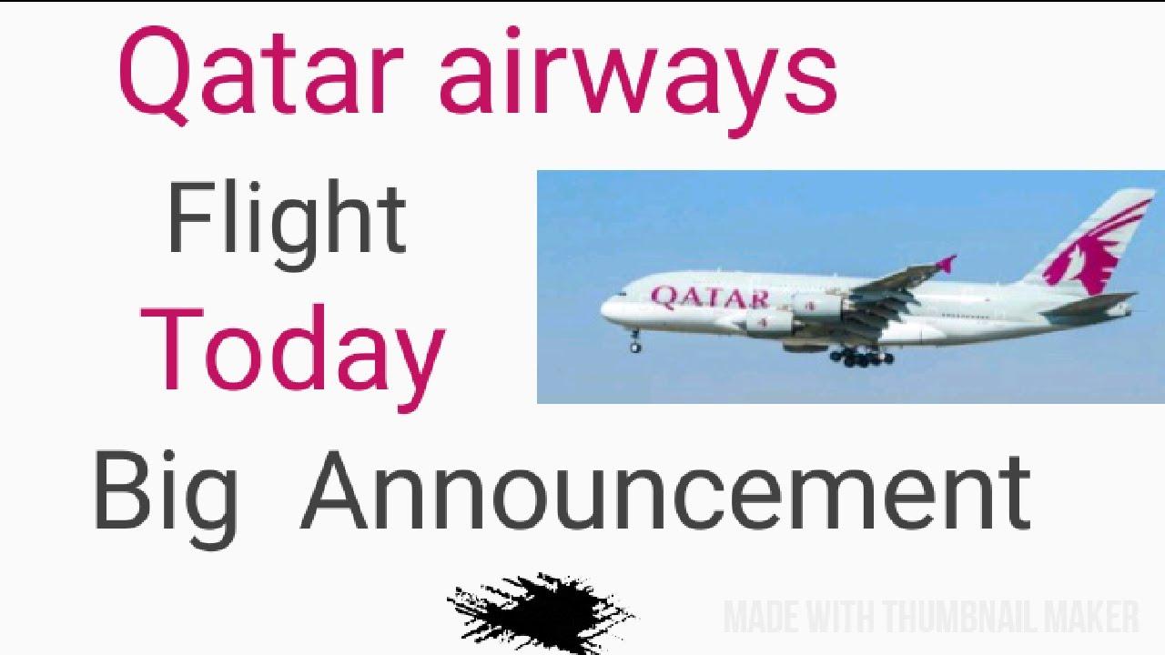 Qatar Airways Big Announcement Today About Flights// Qatar Flights update