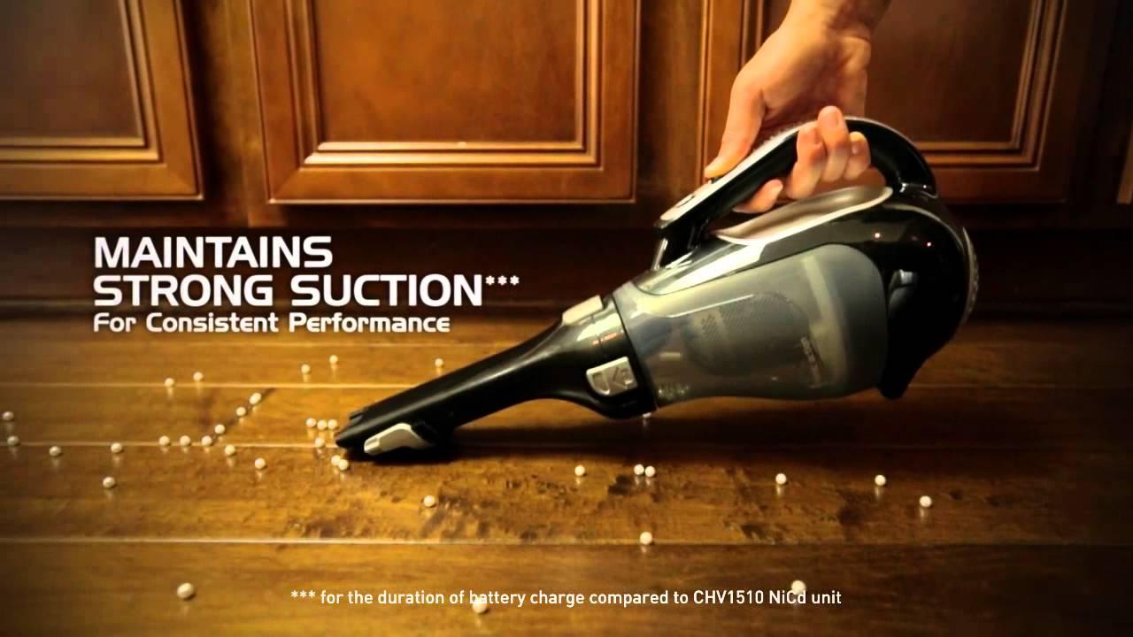 Black Decker Platinum Introduces The 20v Max Lithium Hand Vac