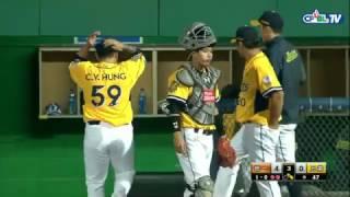 04/19 統一 vs 兄弟 三局上,先發投手鄭凱文與兄弟總教練遭主審驅逐出場