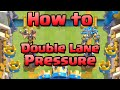 Clash Royale - How to Double Lane Pressure (Advanced Strategy)