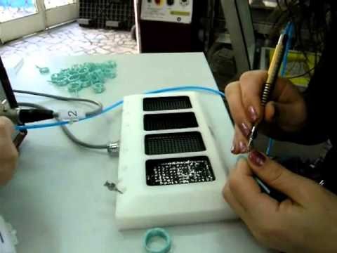 micro pave setting machine