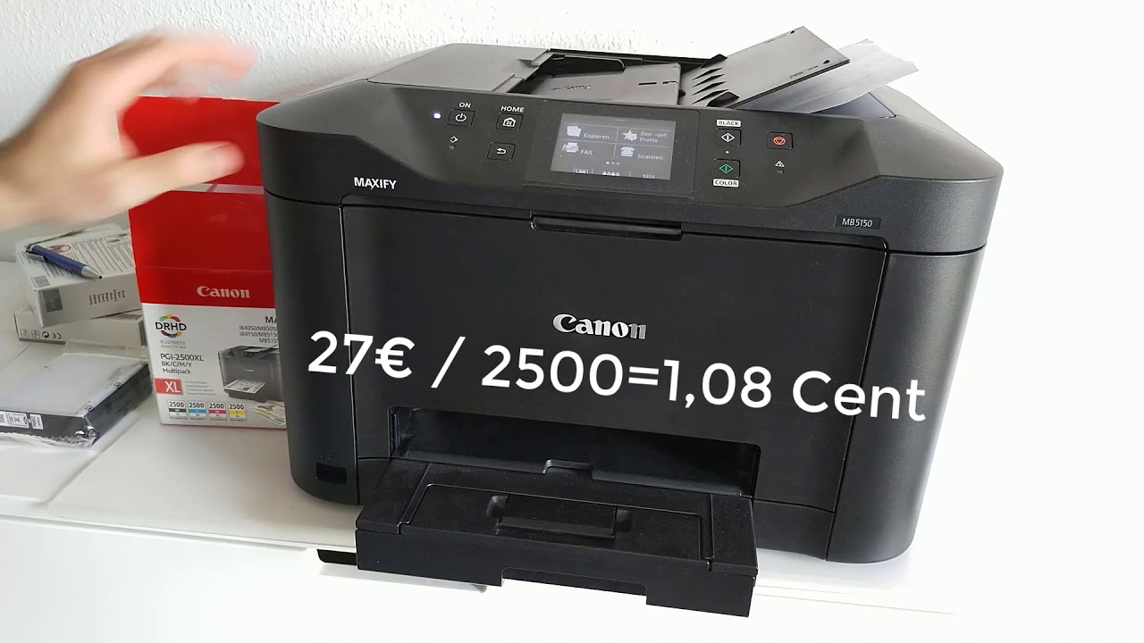Test Canon Maxify Mb5150 Multifunktions Drucker Scanner Erfahrungsbericht Youtube