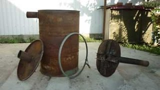 Самодельная металлическая печь для дачи своими руками от дачного мастера самоделкина сделай сам 2015(Смотрите видео ролики Сделай сам ..., 2015-06-07T15:57:41.000Z)