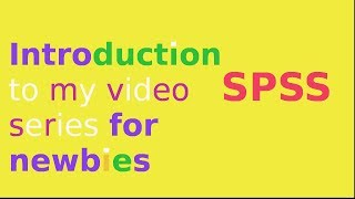 Introduction to SPSS for data analysis: overview of SPSS(Need to use SPSS for a project/dissertation? Start your journey here. In this 1st video in the series SPSS for Newbies I present an overview of SPSS, and tell you ..., 2013-12-17T18:29:55.000Z)