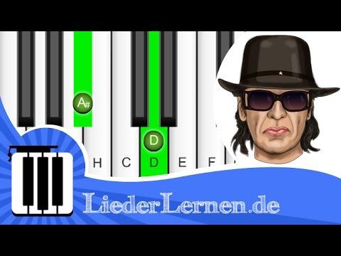 Udo Lindenberg - Durch die schweren Zeiten - Klavier lernen - Musiknoten - Akkorde