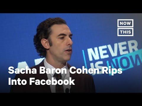 Sacha Baron Cohen Rips Facebook and Other Social Media Giants | NowThis