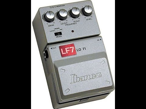 Ibanez Tone-Lock series, LF7 Lo-Fi pedal demo