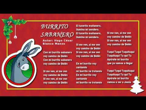 Canciones de navidad mi burrito sabanero