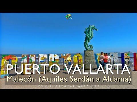Malecón de Puerto Vallarta, Anfiteatro Los Arcos a Calle Aldama