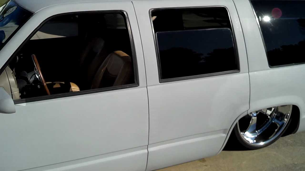 1995 4 Door Tahoe Body Dropped On 24 Racelines With 2007 Front Conversion You