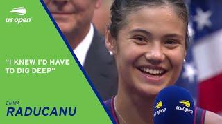 Emma Raducanu On-Court Interview | US Open 2021 Final