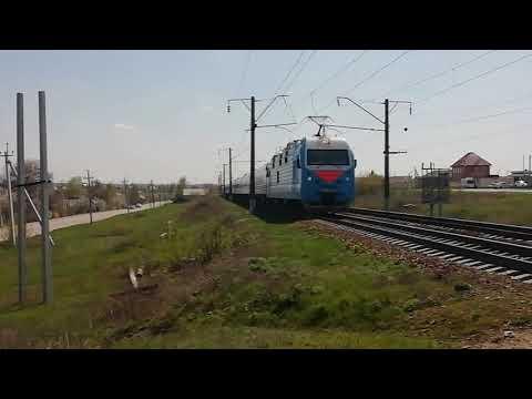 """ЭП1М-411 с фирменным поездом """"Эльбрус"""""""