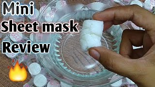 sheet mask: Compressed Sheet mask review | How to use compressed sheet mask in hindi(2019)