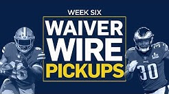 Week 6 Waiver Wire Pickups (Fantasy Football)
