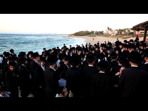 Ultra Orthodox Jews perform Tashlich ritual ahead of Yom Kippur